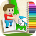 Book to paint and color the children: educational game coloring drawings with magic marker
